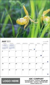 2021 Prairie Portraits Scenic Calendar sample page