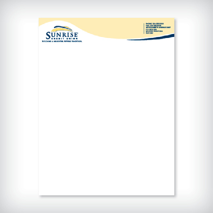 Resources samples letterhead leech printing letterhead return to all samples sunrise credit union thecheapjerseys Image collections