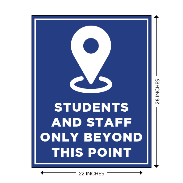 COVID-19 - School Signage - Students and Staff Only Beyond This Point (BEYOND-SIGN)