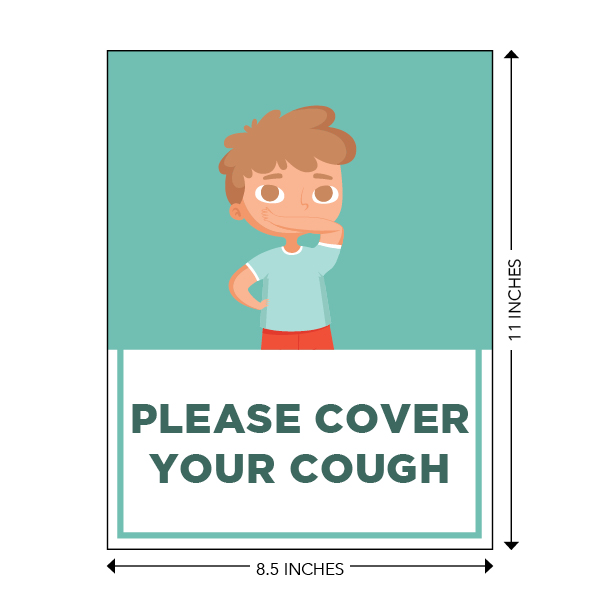 COVID-19 - School Signage - Please Cover Your Cough (ELEM-COVER-COUGH-SM)