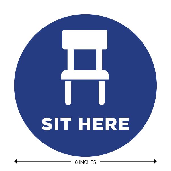 COVID-19 - School Signage - Sit Here (ELEM-SIT-HERE)
