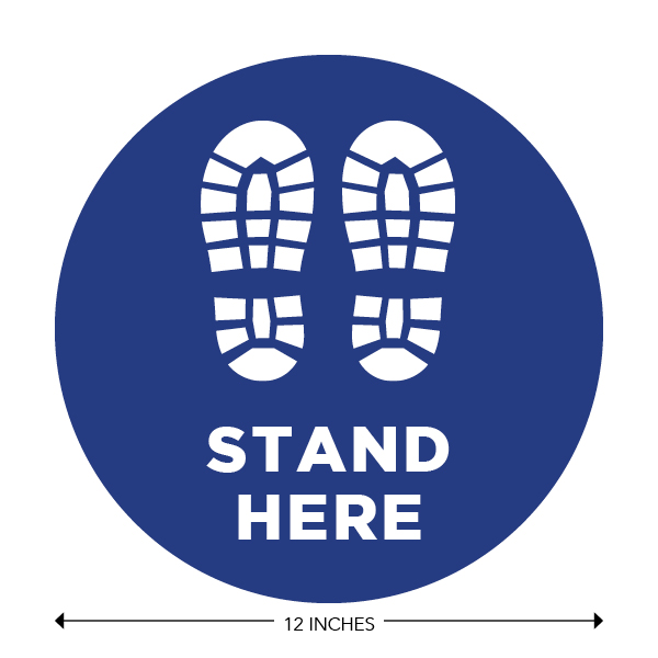COVID-19 - School Signage - Stand Here (ELEM-STAND-HERE)