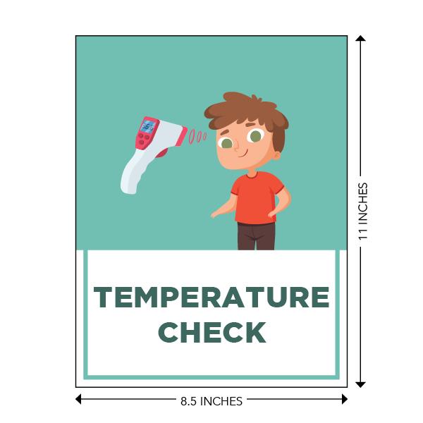 COVID-19 - School Signage - Temperature Check (ELEM-TEMP-POSTER-SM)