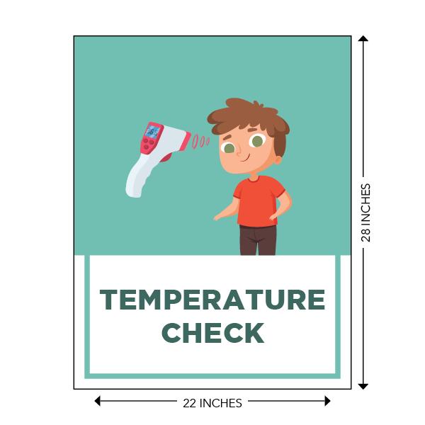 COVID-19 - School Signage - Temperature Check (ELEM-TEMP-SIGN)