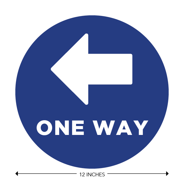 COVID-19 - School Signage - One Way Left (ONE-WAY-LEFT)