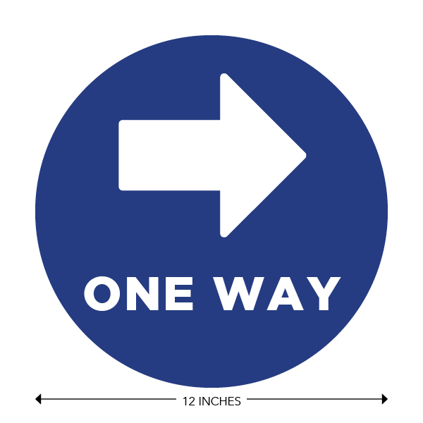 COVID-19 - School Signage - One Way Right (ONE-WAY-RIGHT)