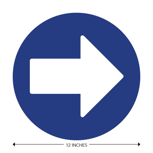 COVID-19 - School Signage - Direction Arrow (PRE-ARROW)