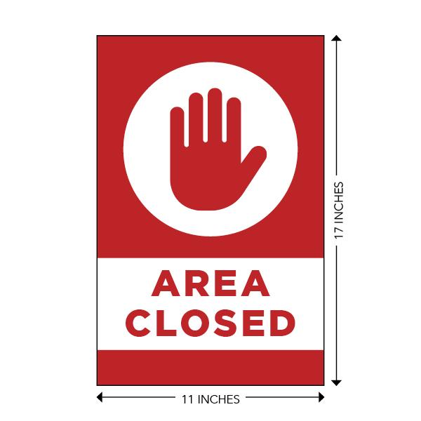 COVID-19 - School Signage - Area Closed (AREA-CLOSED-HANDS-LG)