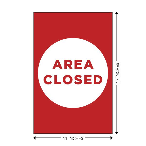 COVID-19 - School Signage - Area Closed (AREA-CLOSED-LG)