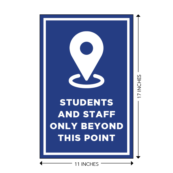COVID-19 - School Signage - Students and Staff Only Beyond This Point (BEYOND-POSTER-LG)