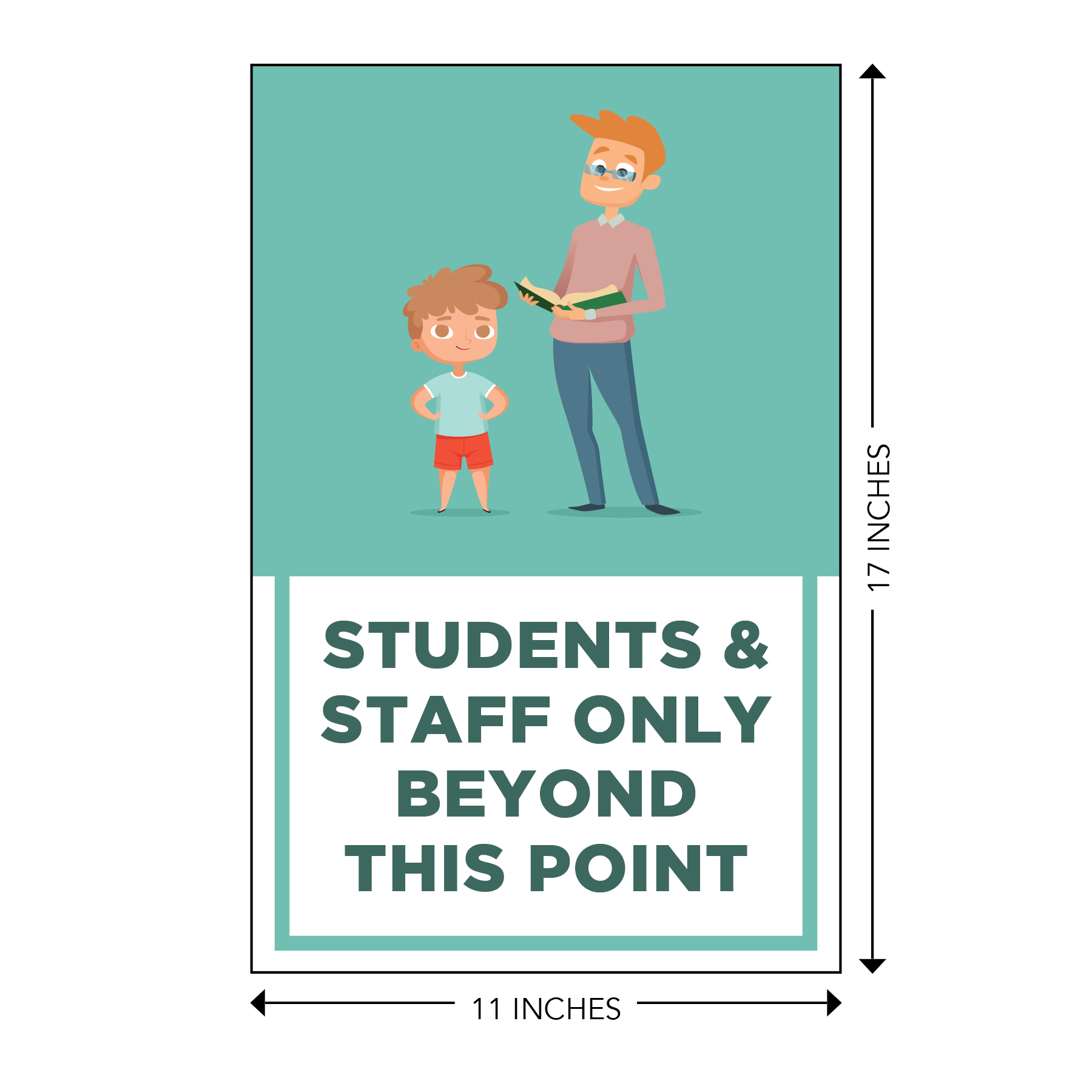 COVID-19 - School Signage - Students & Staff Beyond This Point (ELEM-BEYOND-POSTER-LG)