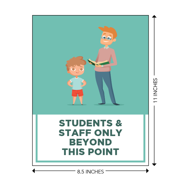 COVID-19 - School Signage - Students & Staff Beyond This Point (ELEM-BEYOND-POSTER-SM)