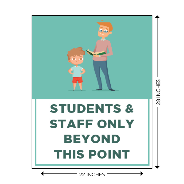 COVID-19 - School Signage - Students & Staff Beyond This Point (ELEM-BEYOND-SIGN)