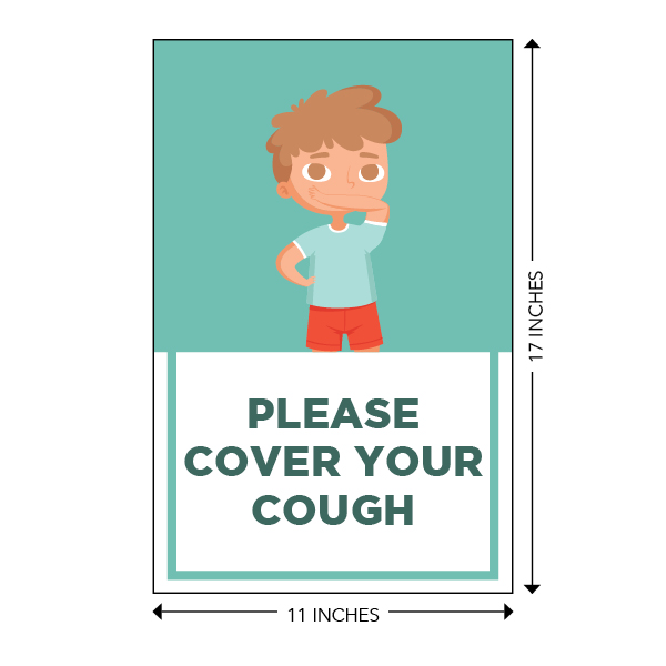 COVID-19 - School Signage - Please Cover Your Cough (ELEM-COVER-COUGH-LG)