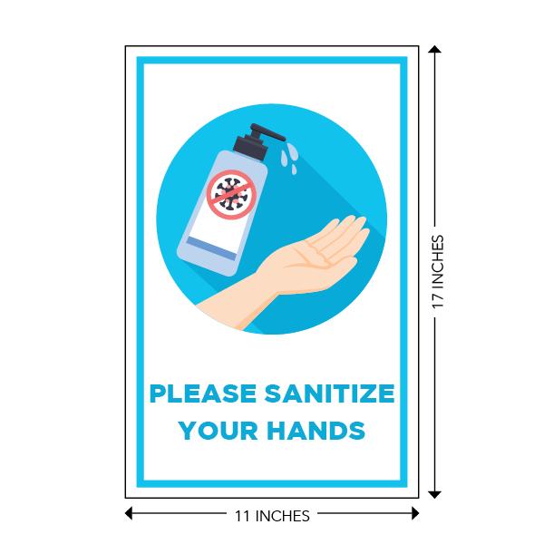 COVID-19 - School Signage - Please Santize Your Hands (SANITIZE-HANDS-LG)