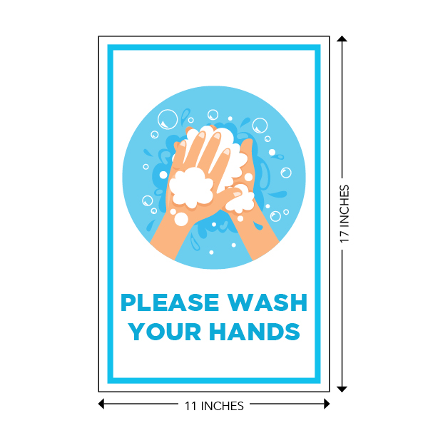 COVID-19 - School Signage - Please Wash Your Hands (WASH-HANDS-LG)