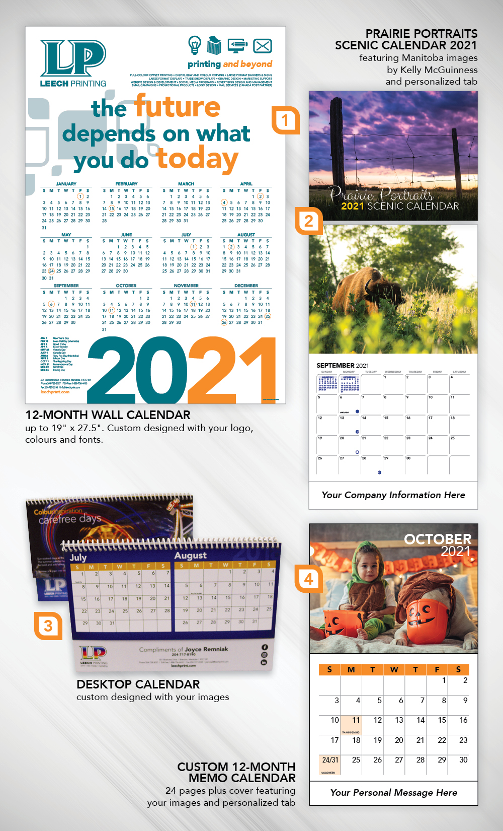 Custom calendars from Leech Printing • 2021 calendars • Calendar printing